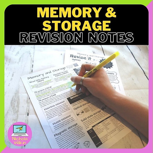 Memory and Storage Knowledge Organiser