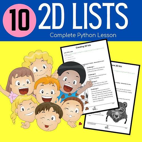 10 2D Lists