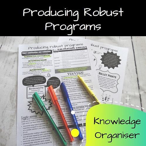 Producing Robust Programs Knowledge Organiser
