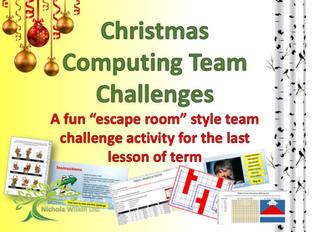 FREE end of term Christmas computing lesson