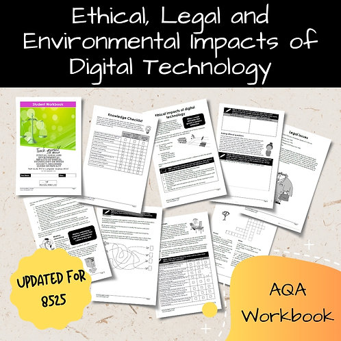 Ethical, Legal and Enviro Impacts AQA GCSE Computer Science Workbook (8525)
