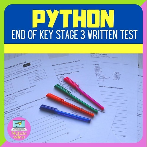 Python programming KS3 assessment