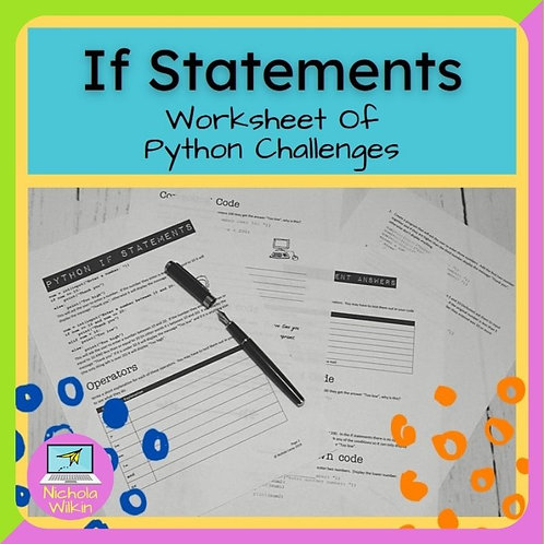 If Statements Printable Challenges