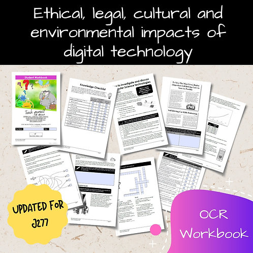 Ethical Impacts OCR GCSE Computer Science Workbook (J277)
