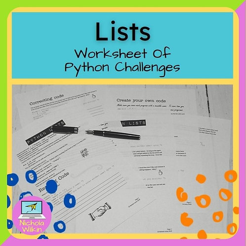 Lists Printable Challenges