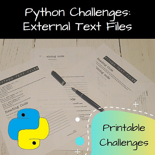 External Text Files Printable Challenges
