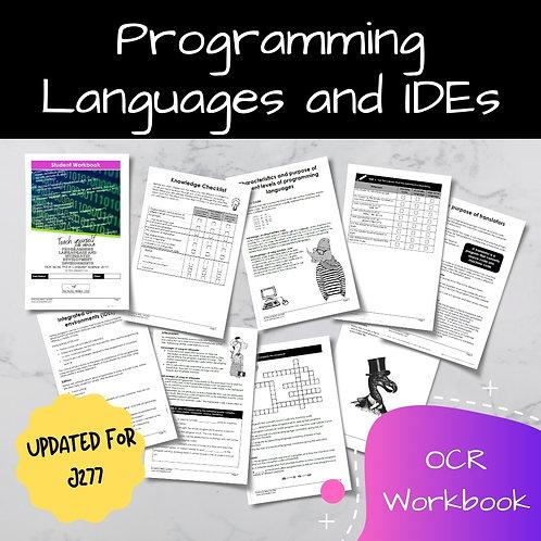 Programming Languages and IDEs OCR GCSE Computer Science Workbook (J277)