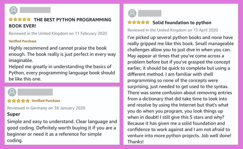 Python by Example Reviews