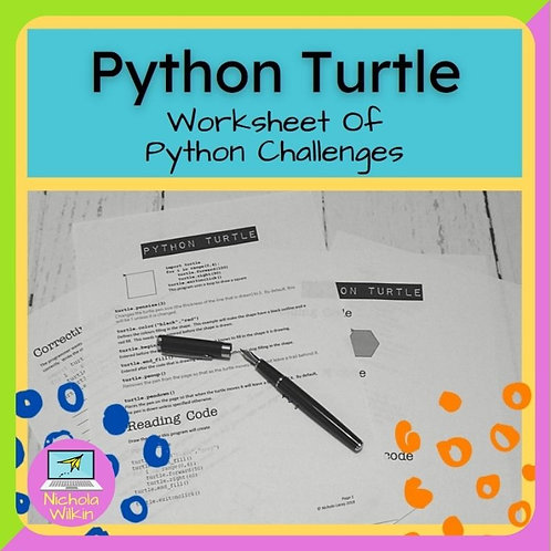 Python Turtle Printable Challenges