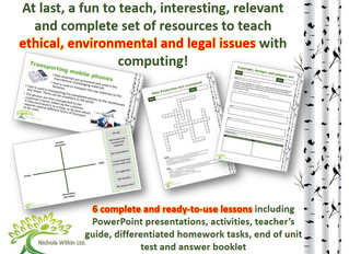 Ethical, environmental and legal issues with ICT and computing