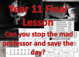 Year 11 Final lesson – Escape Room scenario