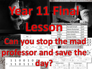 Year 11 Final lesson – Escape Room scenario