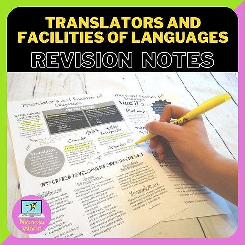 Translators and Facilities of Programming Languages Knowledge Organiser