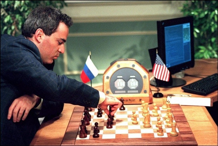 Kasparov playing Deep Blue