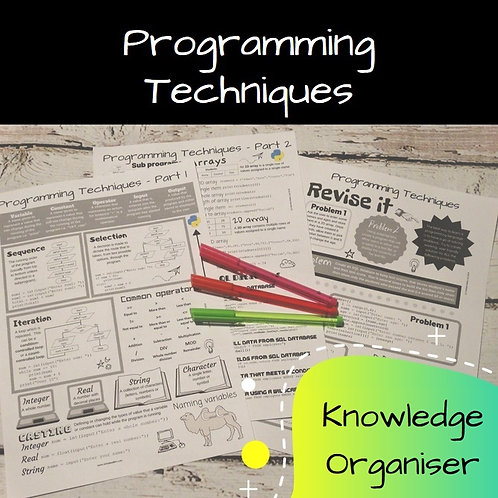 Programming Techniques Knowledge Organiser