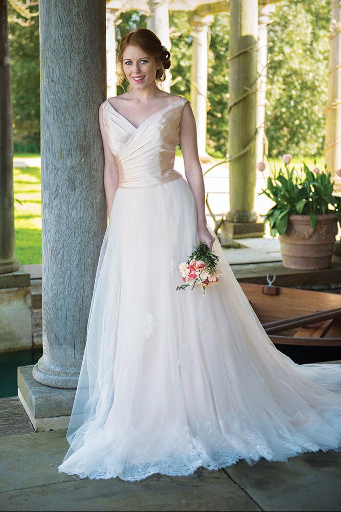 Blush Rose Bodice / Cherry Blossom Skirt