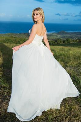 White Lavender Bodice / Citrus Blossom Skirt