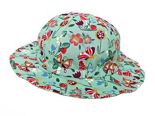 Summer Hat: BC Hearing Aid Compatible - Flower Pattern