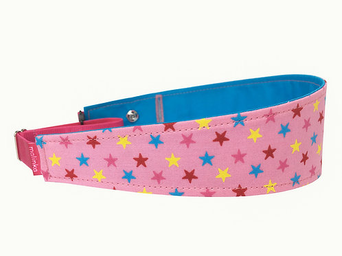 Pink Fabric with Multicoloured Stars