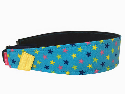 Blue Fabric with Multicoloured Stars