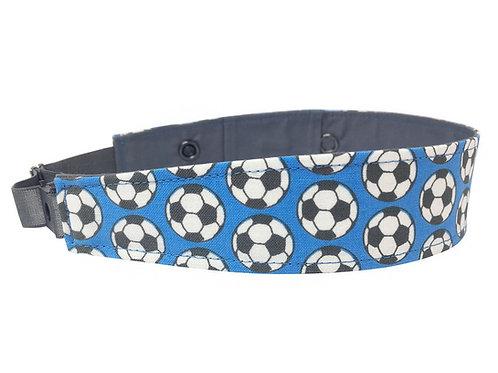 Footballs on Blue Background