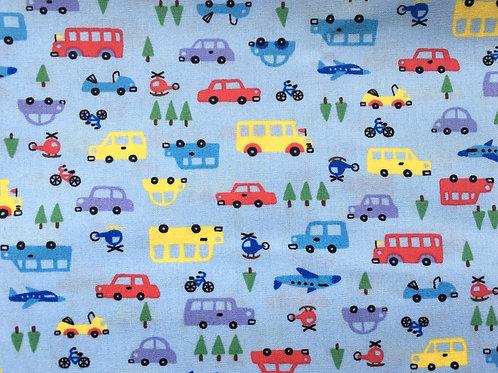 Colour Cars on Light Blue Background