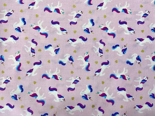 Unicorns on Pink Background