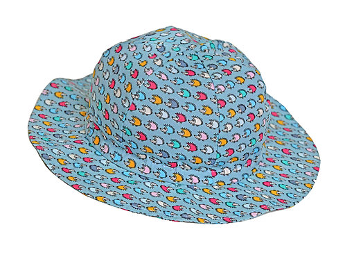 Summer Hat: BC Hearing Aid Compatible - Hedgehog Pattern