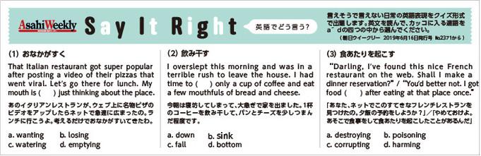 Say-It-Right「英語でどう言う?」202003