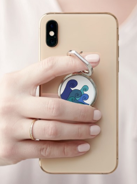 Ocean Waves Phone Ring Grip
