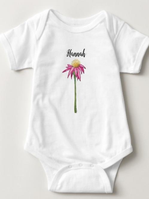 Personalized Wildflower Baby One-Piece