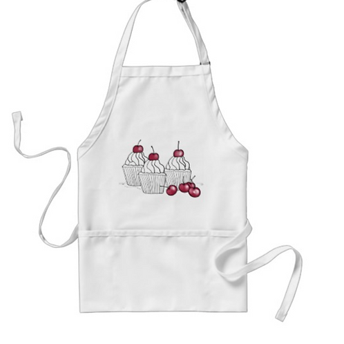 Farmhouse Chef Apron with Cupcakes