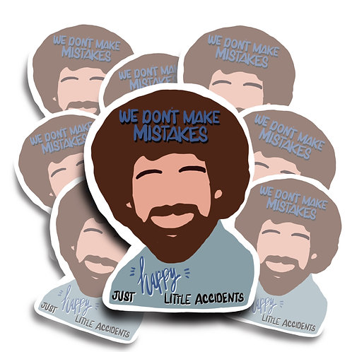 Bob Ross Happy Little Accident Sticker