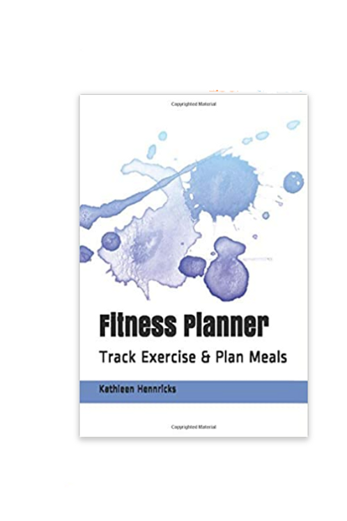 Fitness Planner Blue Watercolor Splash