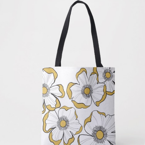Yellow Floral Tote
