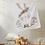 Thumbnail: Boho Bunny Baby Blanket Customizable
