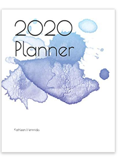 2020 Planner Blue Watercolor Splash