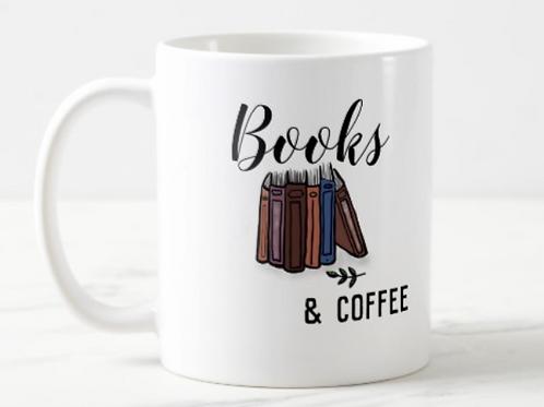 Books & Coffee Mug