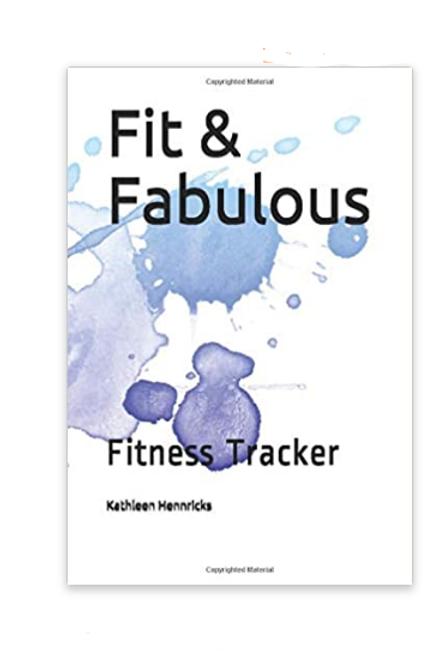 Fit & Fabulous Fitness Planner Blue Watercolor Splash
