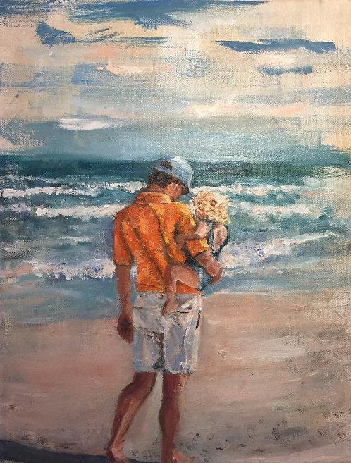 """Beach Bonding  11x14"""""""