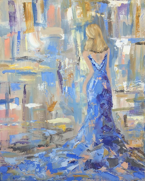 Blue Gown 16x20""