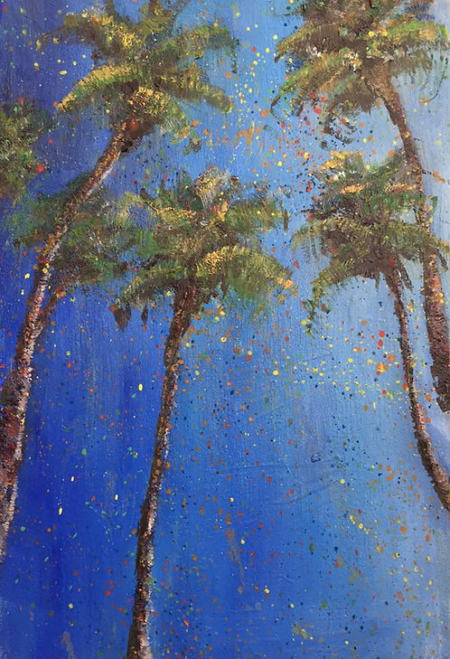 "Santa Monica Palms  10x15"""