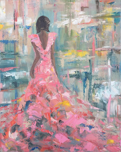 Pink Gown 16x20""