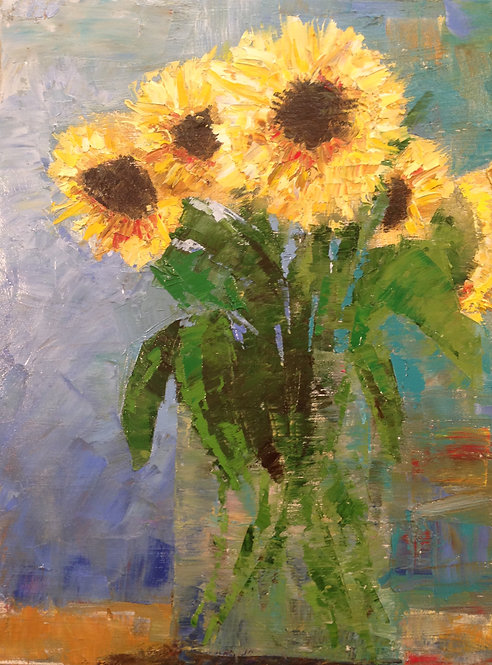 Sunflowers 18x24""