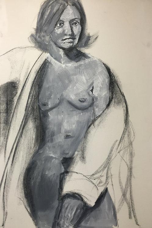 """Nude with Bathrobe 24x36"""""""