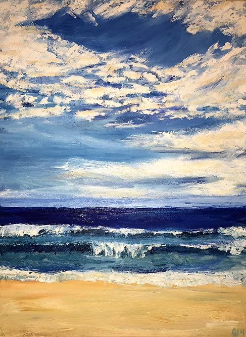 "Beach Day 18x24"""