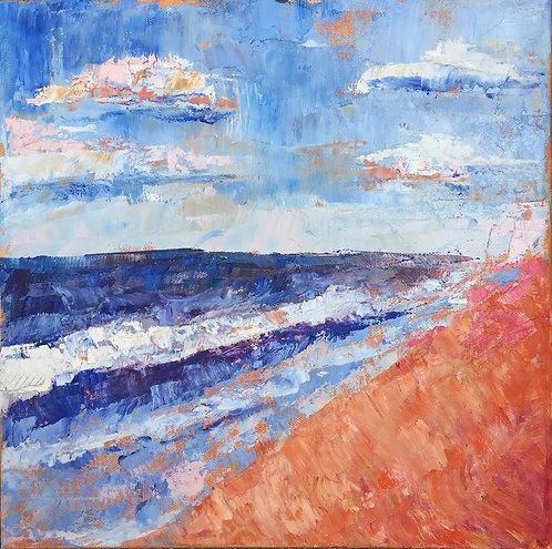 "Abstract Beach 12x12"""