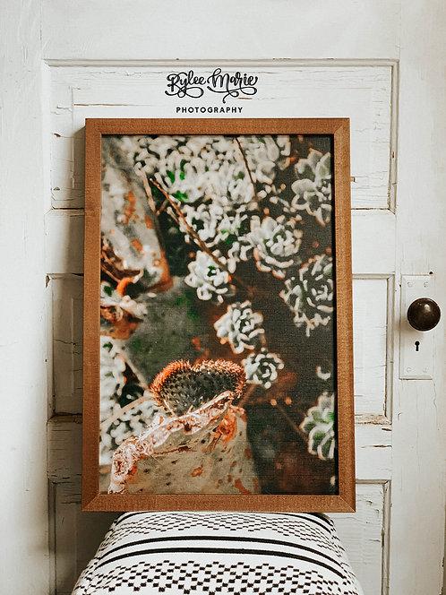 'Desert Love' Wood Framed Print