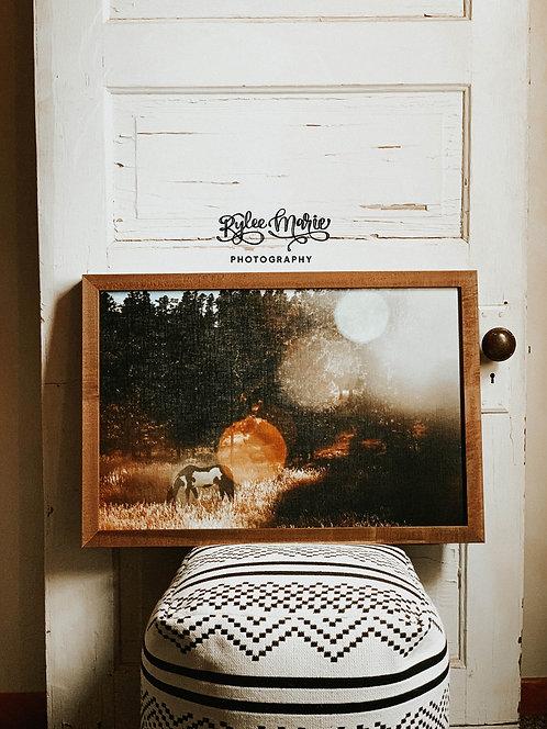 'Paint Me a Pony' Wood Framed Print