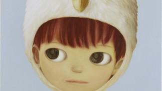 Little white owl boy